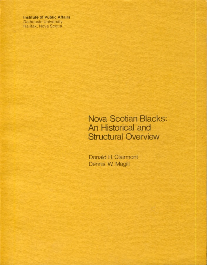 Image for Nova Scotian Blacks: An Historical and Structural Overview