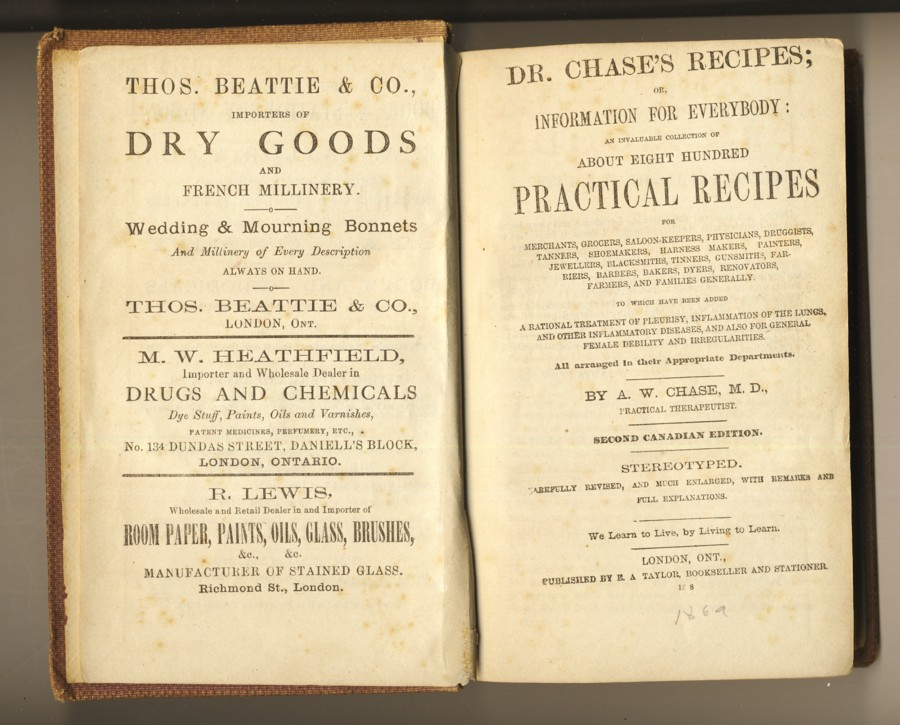 Image for Dr. Chase's Recipes; or, Information for Everybody: An Invaluable Collection of About Eight Hundred Practical Recipes . .