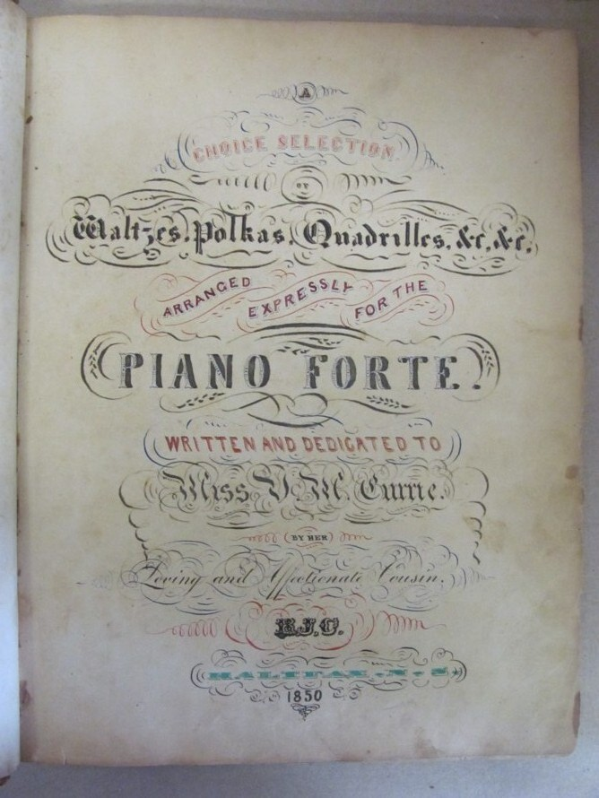 Image for A Choice Selection of Waltzes, Polkas, Quadrilles, etc.,etc., arranged expressly for the Piano Forte.