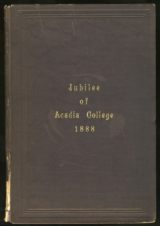 Image for Jubilee of Acadia College and Memorial Exercises