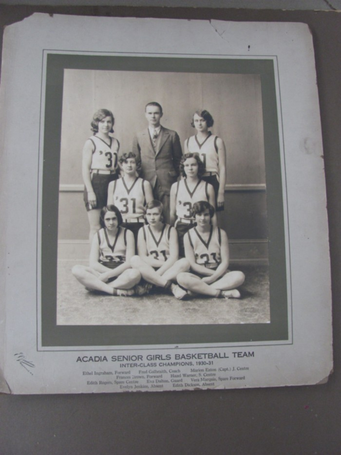 Image for Acadia Senior Girls Basketball Team Inter-Class Champions, 1930-31 (Photograph)