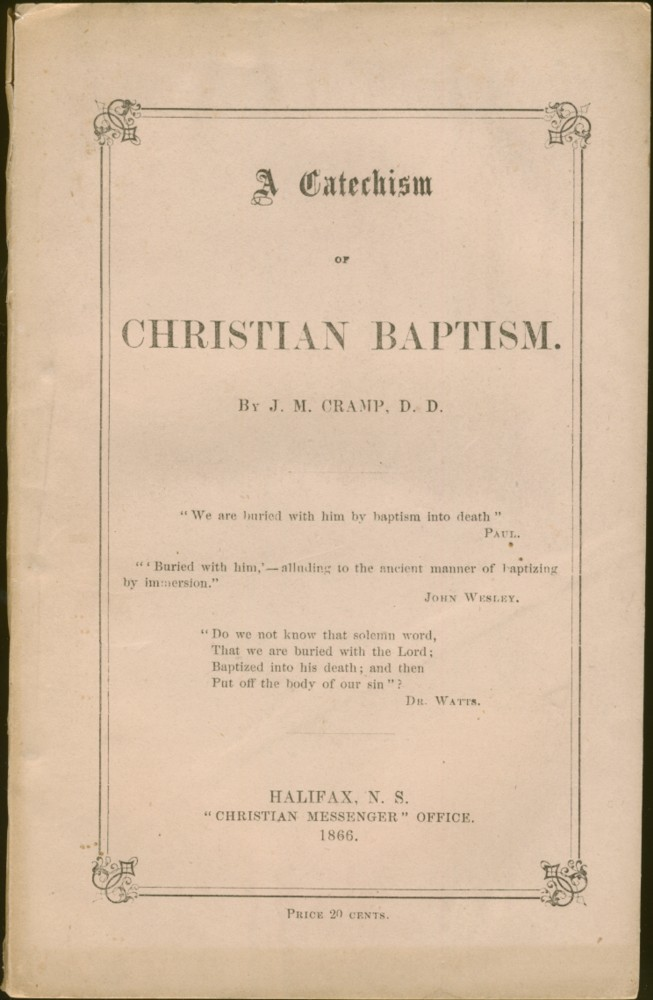 Image for A Catechism of Christian Baptism