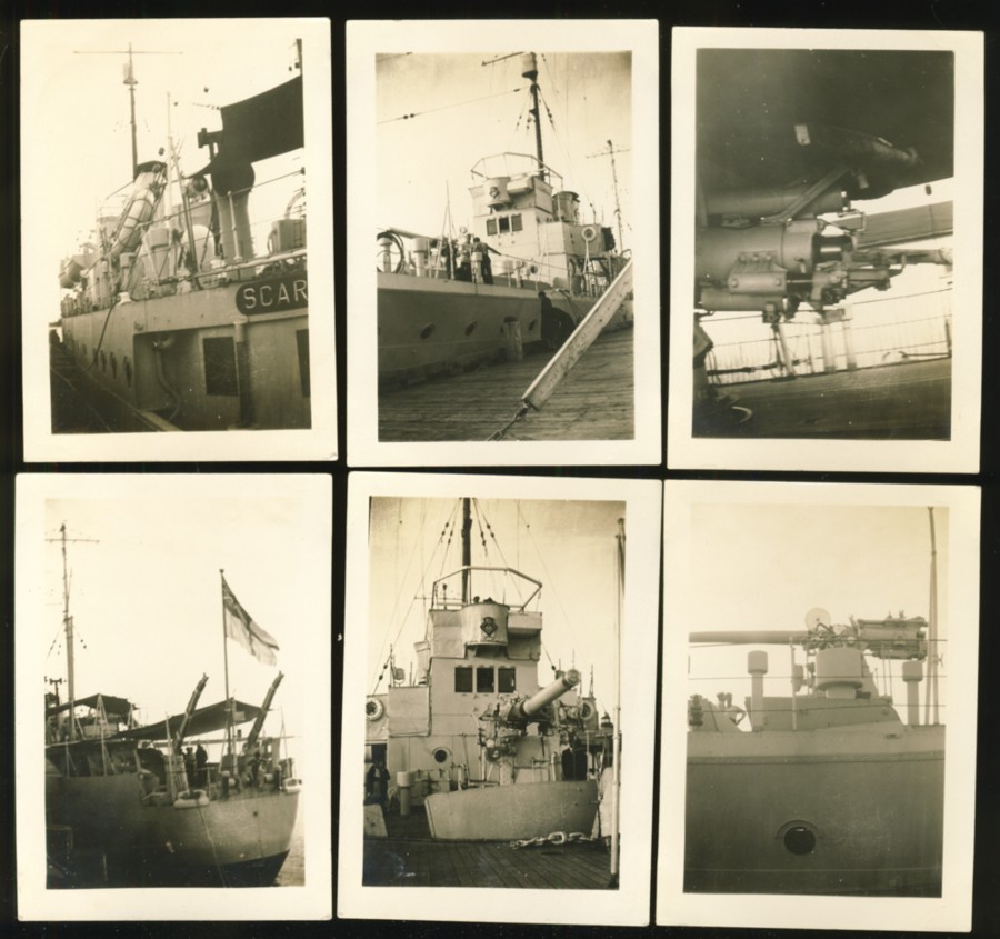 Image for 6 photographs of H. M.S. Scarborough (St. Peters Canal, Nova Scotia)