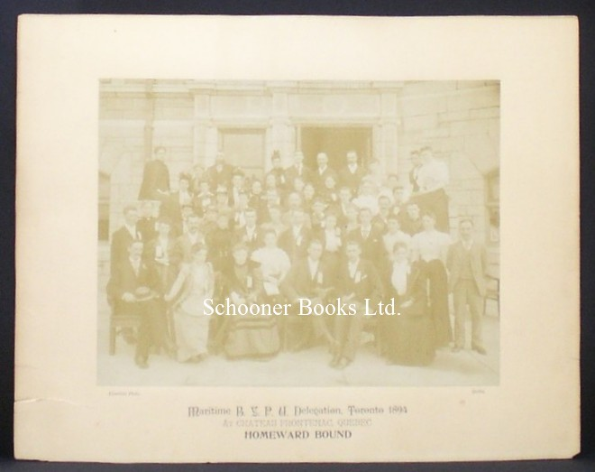 Image for Photograph of the Maritime B. Y. P. U. Delegation, Toronto, 1894 at Chateau Frontenac, Quebec, Homeward Bound [Baptist Young Peoples Union]