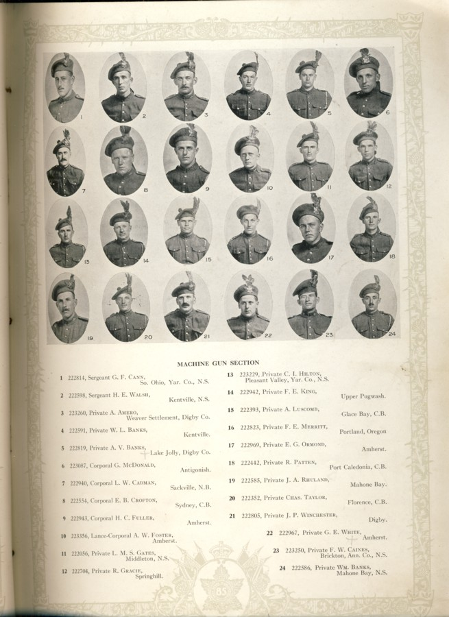 Image for A Short History and Photographic Record of the Nova Scotia Highlanders 85th Overseas Battalion C.E.F.
