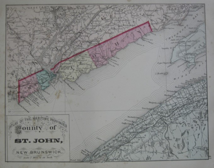 Image for Map: County of St. John, New Brunswick.  16 x 13 [Plate #47] Single sheet with some topographic detail