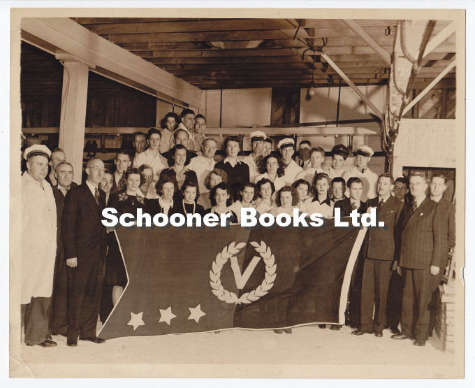 Image for Photograph of Canada Packers Ltd. Employees Presented with a Flag for Victory Bond Purchases, Halifax, Nova Scotia, Canada, 1943