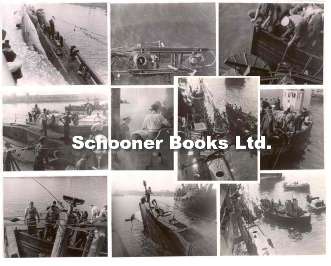 Image for Ten Photographs of the Sinking of the HMS Sidon (P259) Portland Harbour (England) 1955  [10 black and white photographs showing various stages of the sinking]