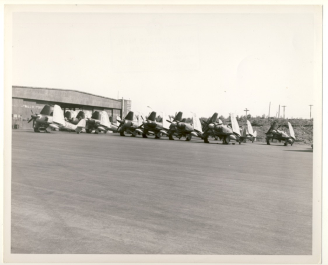 Image for RCN Photograph of Airplanes on Tarmack at Naval Air Station [CFB Shearwater], Dartmouth, Nova Scotia, c. 1950
