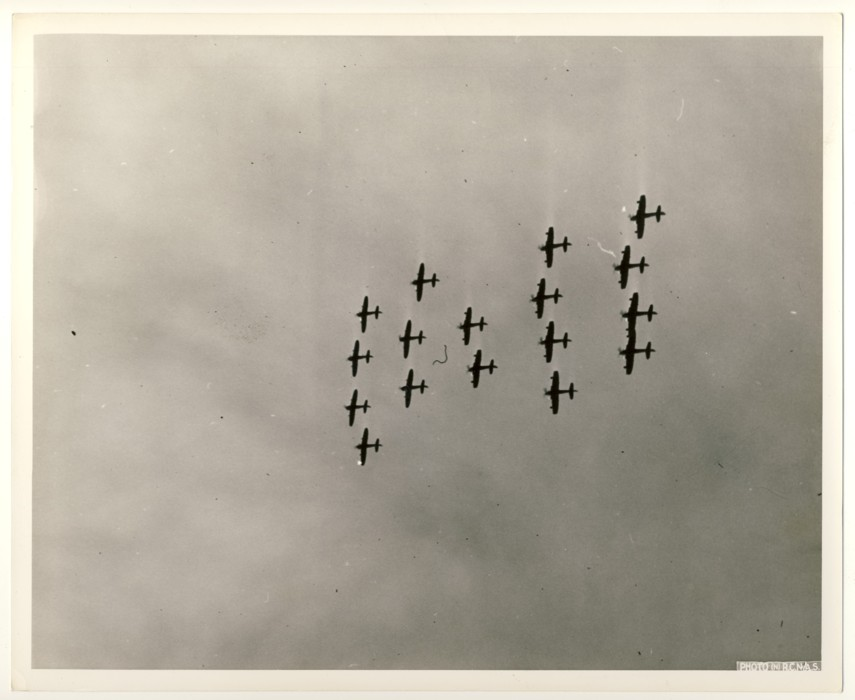 Image for RCN Photograph of Naval Airplanes Flying in Formation, c. 1950