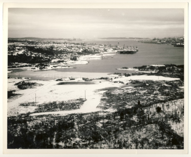 Image for RCN Photograph of Halifax Harbour Looking South from the Dartmouth Side Near the Present Location of BIO and Shannon Park, c. 1950