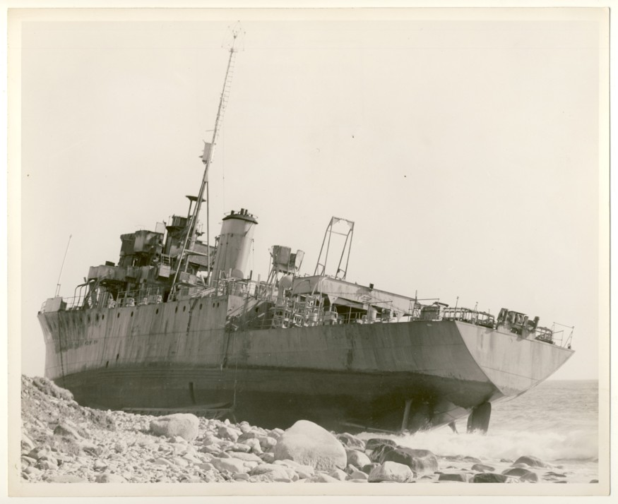 Image for RCN Photograph of Ship on the Rocks, c. 1950