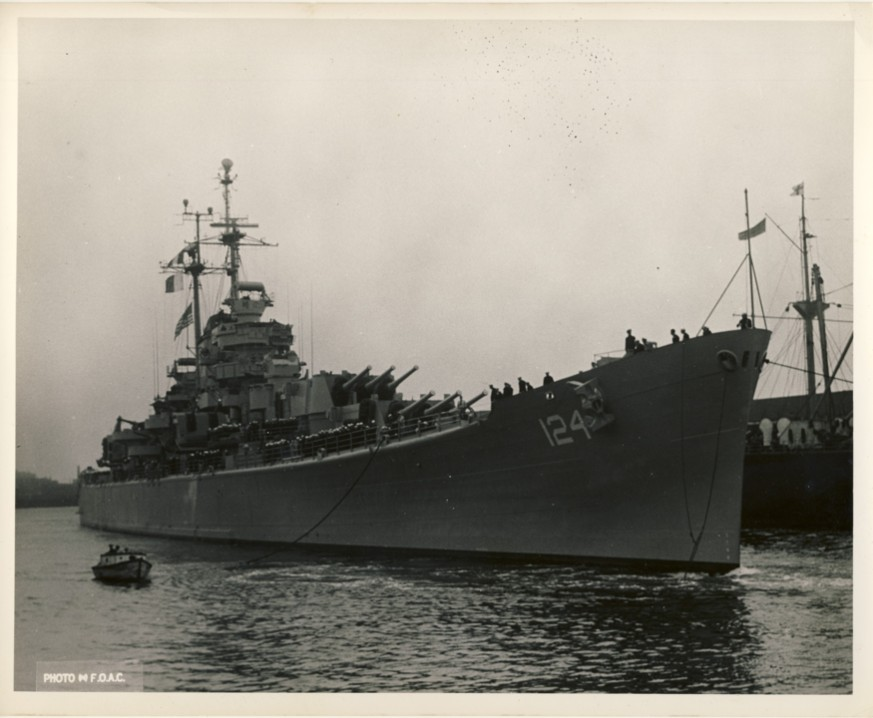 Image for RCN Photograph of the USS Rochester, Probably of Halifax, Nova Scotia, c. 1950