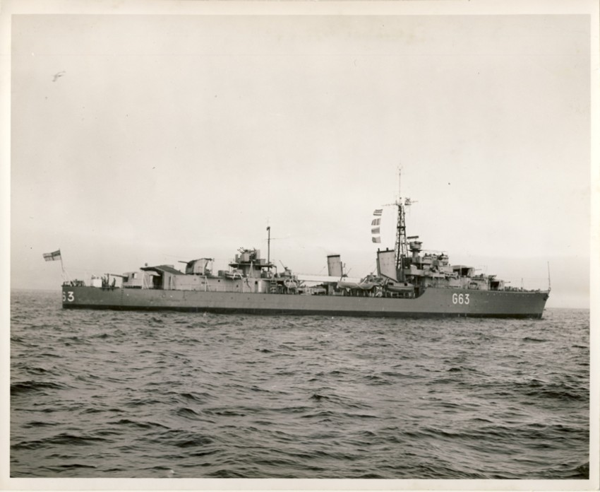 Image for RCN Photograph of HMCS Haida at Sea (1952)