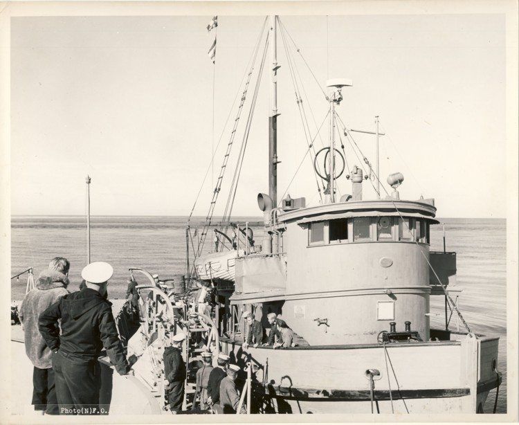 Image for RCN Photograph of the Royal Canadian Air Force Supply Vessel Malahat