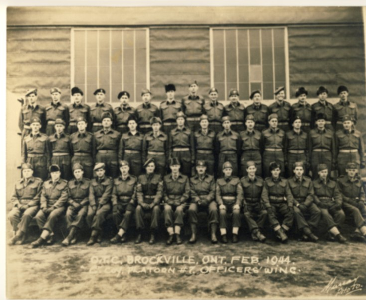 Image for O.T.C. Brockville, Ont. Feb. 1944. C Coy. Platoon #7. Officers' Wing