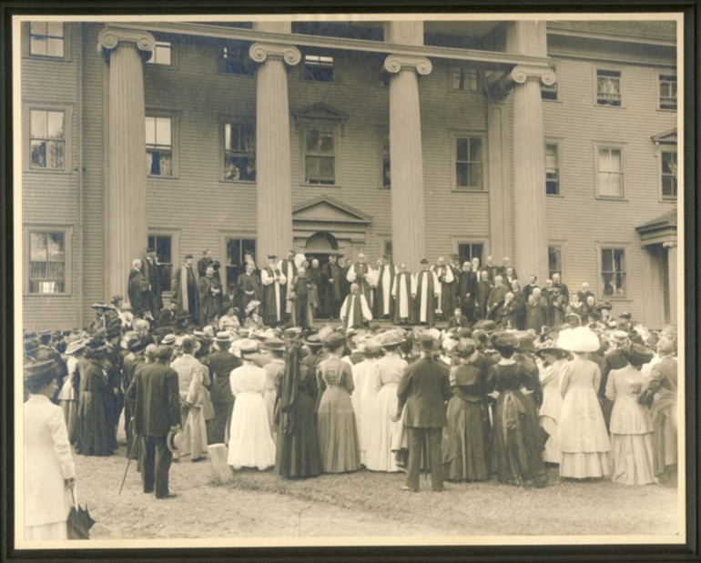Image for Bishop of London visiting King's College, Windsor, Nova Scotia 1910