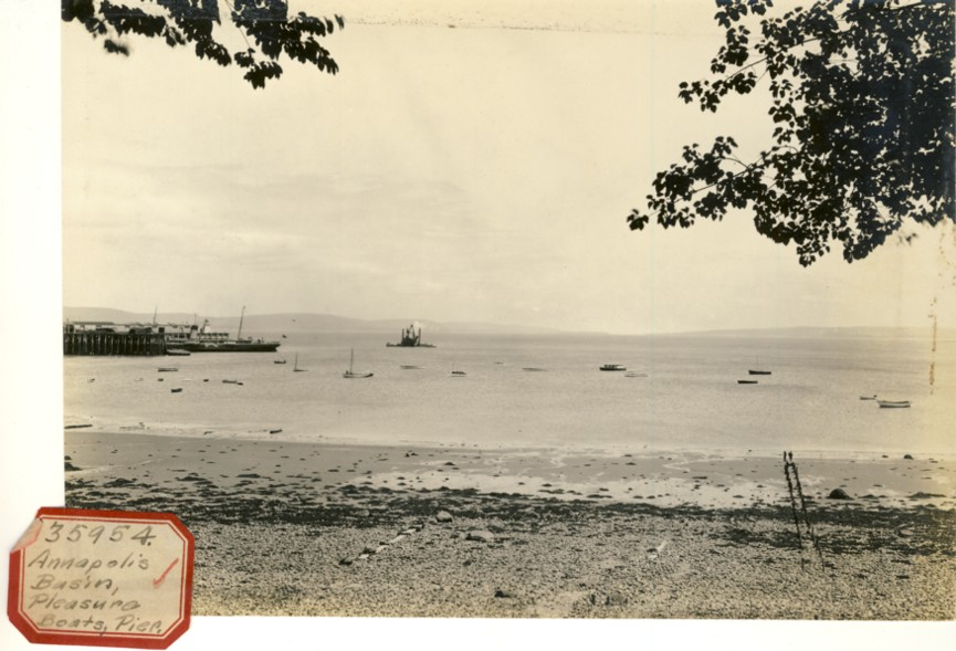 Image for Photograph of Annapolis Basin , Pleasure Boats, Pier