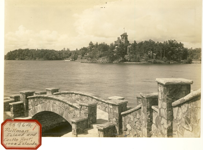 Image for Photograph of Pullman Island  in the St. Lawrence River( Sticker reads Pullman Island and Castle Rest, 1000 Islands)