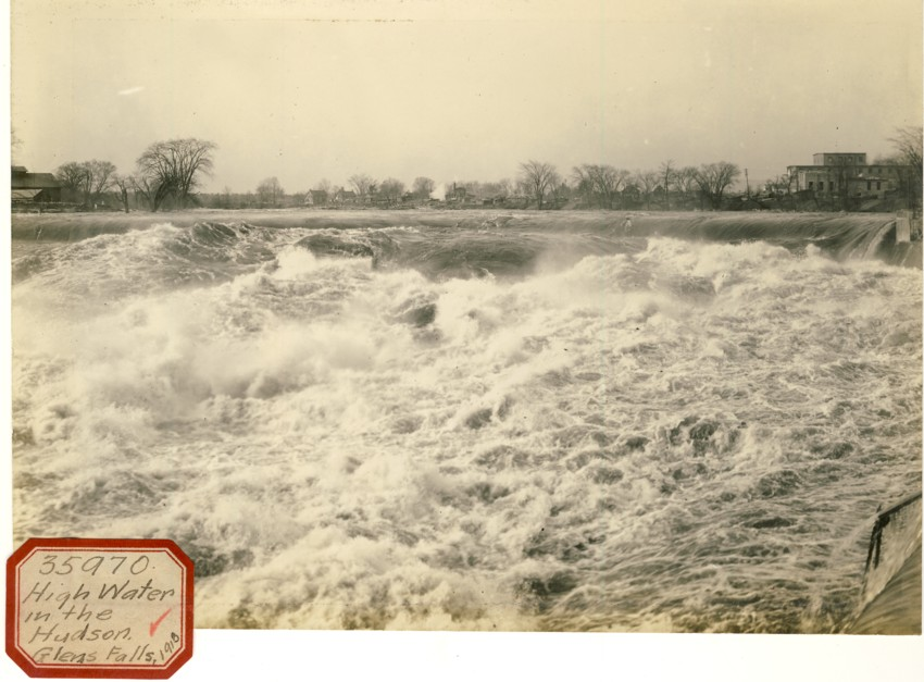 Image for Photograph of High Water in the Hudson, Glens Falls , 1918 (New York)