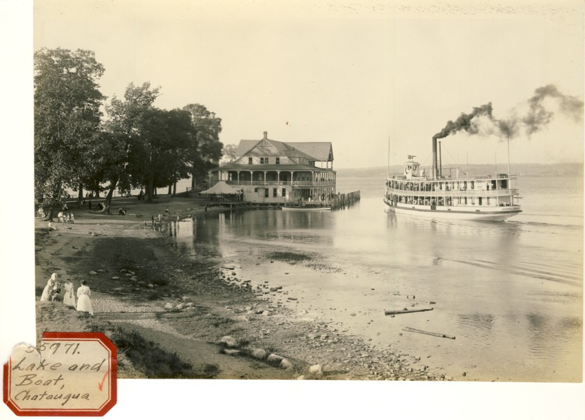 Image for Photograph of Lake and Boat, Chatauqua (New York)
