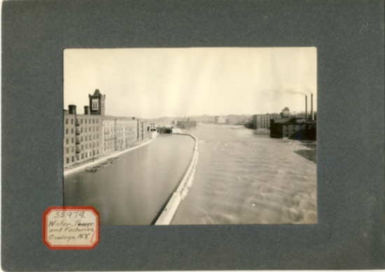 Image for Photograph of Water Power and factories Oswego,NY (New York)