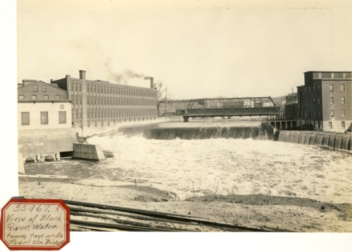 Image for Photograph of Black River River Waterton toward Pearl St. Bridge (New York)
