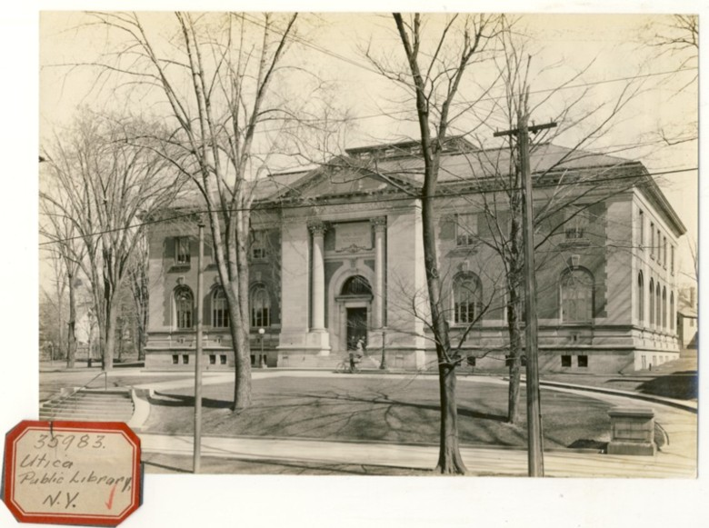 Image for Photograph of Utica Public Library, NY (New York)