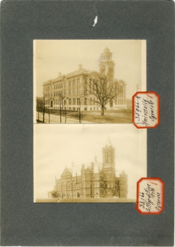 Image for Two Photographs of Syracuse New York (stickers read College of Fine Arts Syracuse &  University of Syracuse)