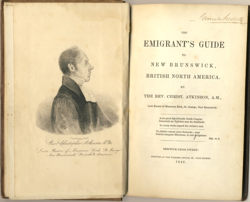 Image for The Emigrant's Guide to New Brunswick, British North America