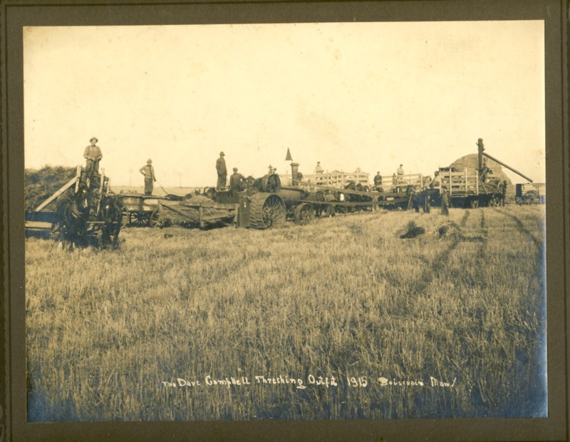 Image for Three photographs of the Dave Campbell Threshing Outfit 1908 & 1915 (Manitoba)