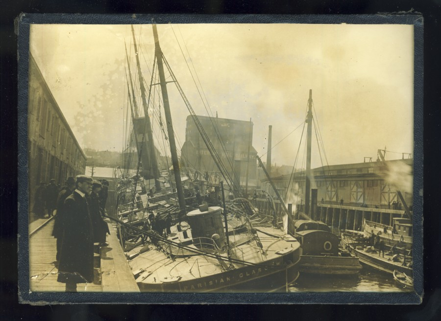 Image for Photograph of the sinking of the S/S Parisian in Halifax Harbour, March 1905.