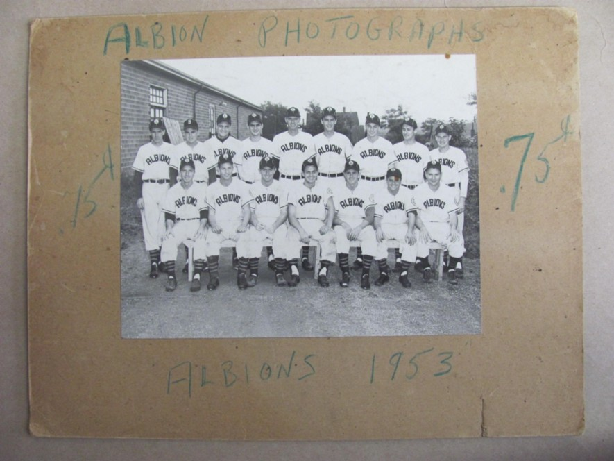 Image for Photograph of the Albions Baseball Team, Pictou County Nova Scotia 1953 (H&D League champs)
