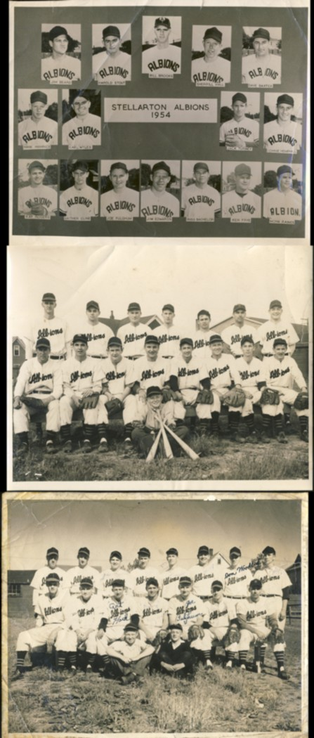 Image for Three photographs of the Stellarton Albions Baseball Team from the 1950s