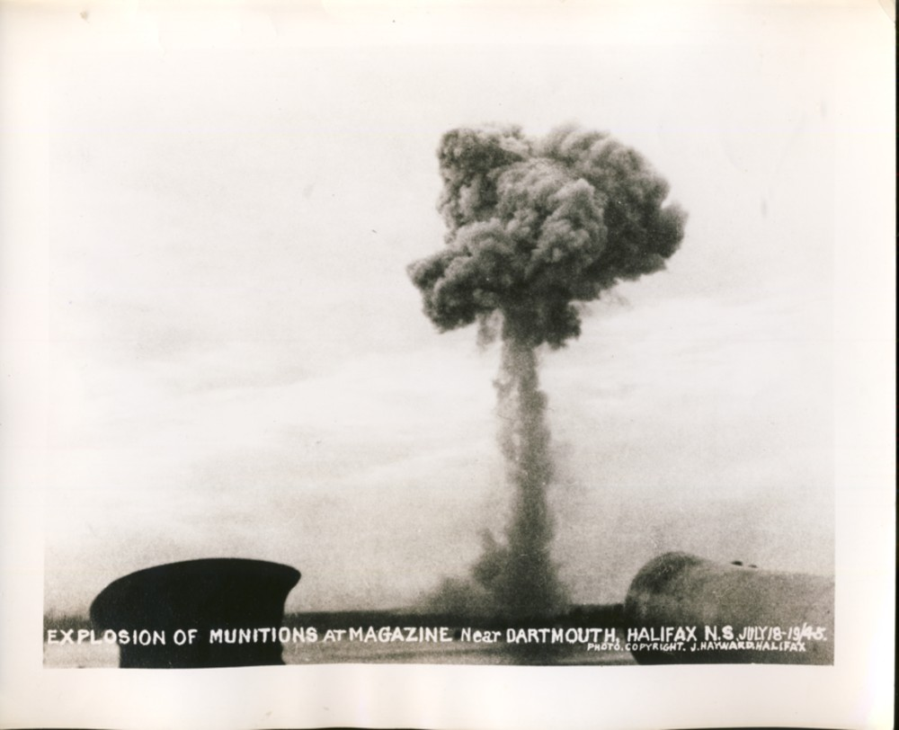 Image for Explosion of Munitions at Magazine Near Dartmouth, Halifax N.S. July 18-19/45