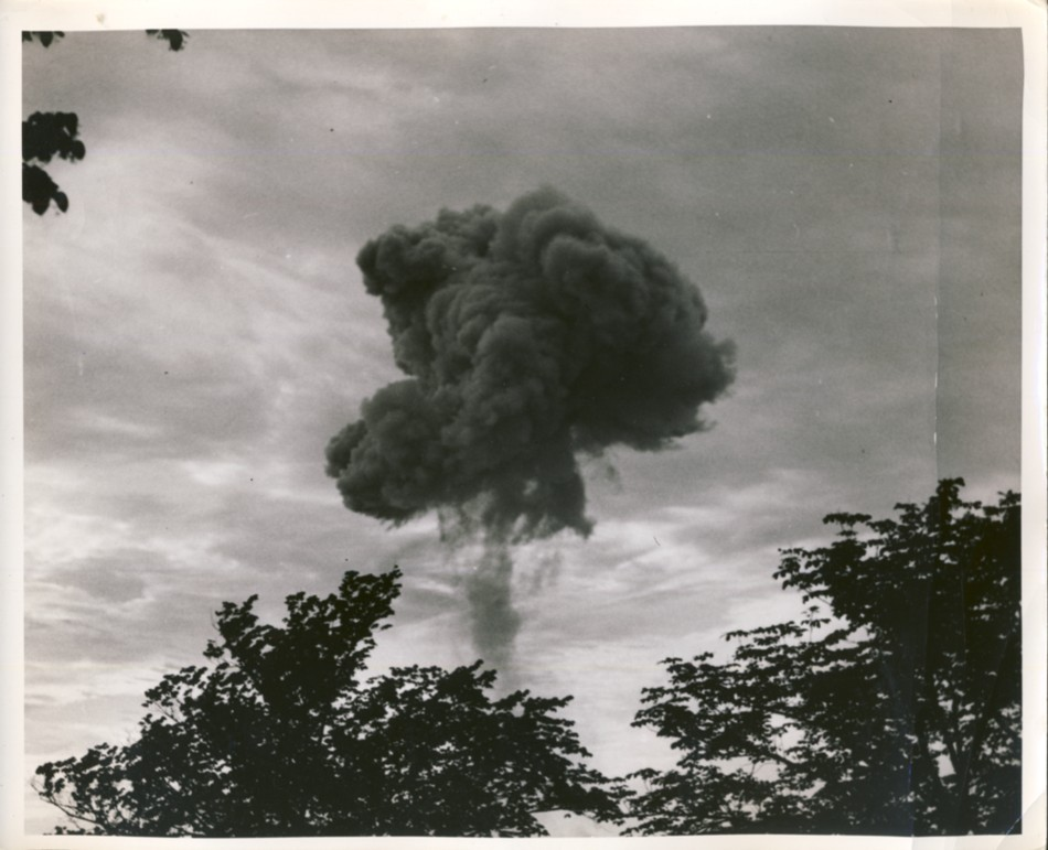 Image for No title (Explosion of Munitions at Magazine Near Dartmouth, Halifax N.S. July 18-19/45)