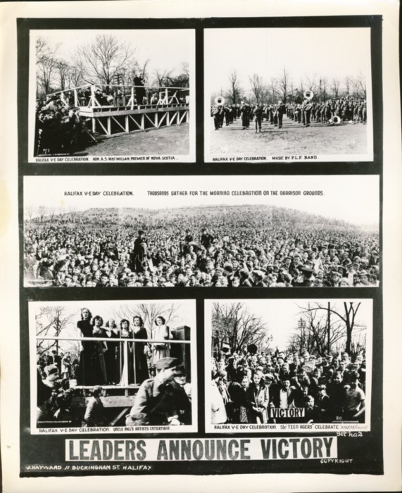 Image for Photograph of Five photographs of The Halifax V-E Day Celebrations, 7–8 May 1945 in Halifax and Dartmouth, Nova Scotia Leaders Announce Victory
