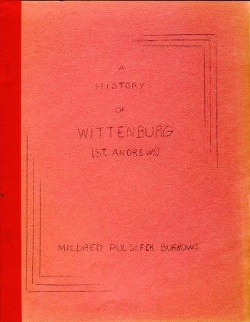 Image for A History of Wittenburg (St. Andrews)