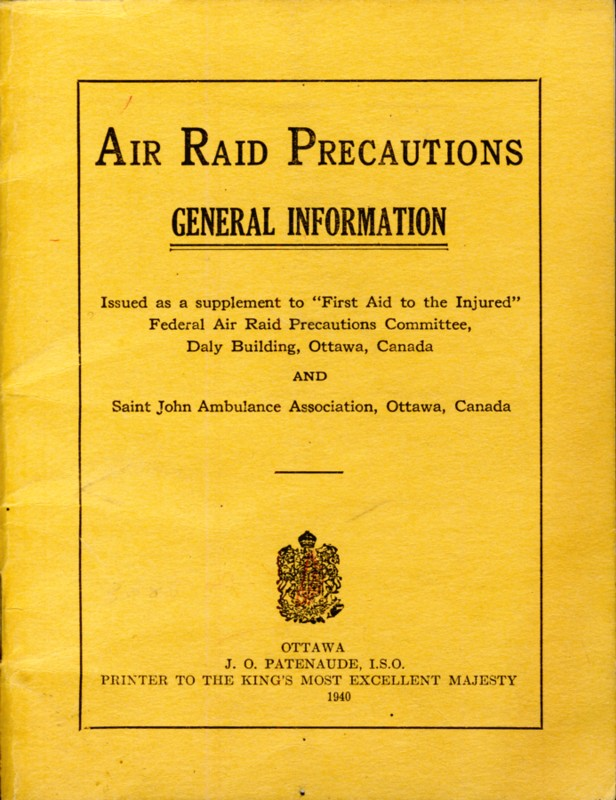 Image for Air Raid Precautions. General Information