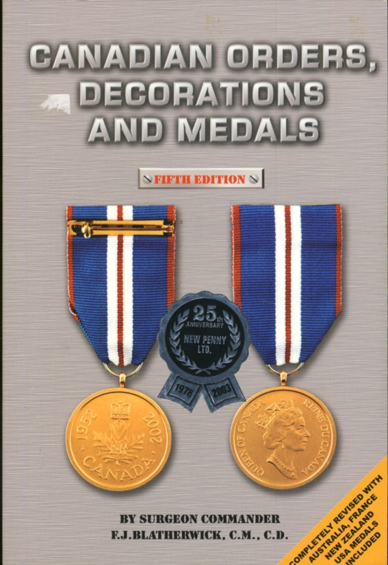 Image for Canadian Orders, Decorations and Medals
