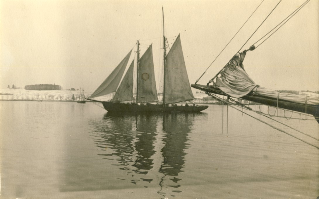 Image for Two masted fishing schooner 'Leah Beryl', Lunenburg, Nova Scotia (1930's)