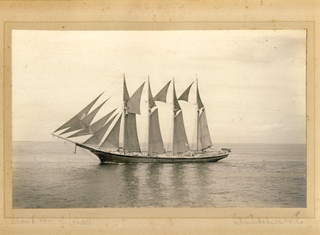 Image for Photograph of the 'Lillian E. Kerr' of LaHave in full sail