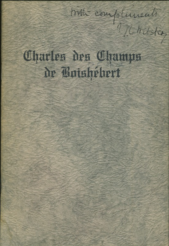 Image for Charles des Champs de Boishebert A Canadian Soldier in Acadia