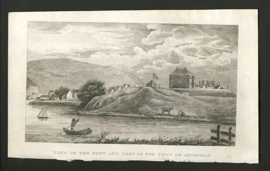 "Image for View of the Port and Part of the Town of Annapolis.   Drawn and Engraved by C.W. Torbett for Haliburton's ""Historical and Statistical Account of Nova Scotia"""