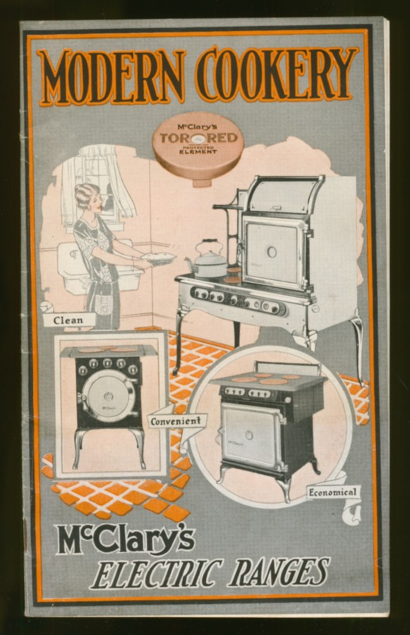 Image for Modern Cookery  McClary's Electric Ranges (advertising brochure)