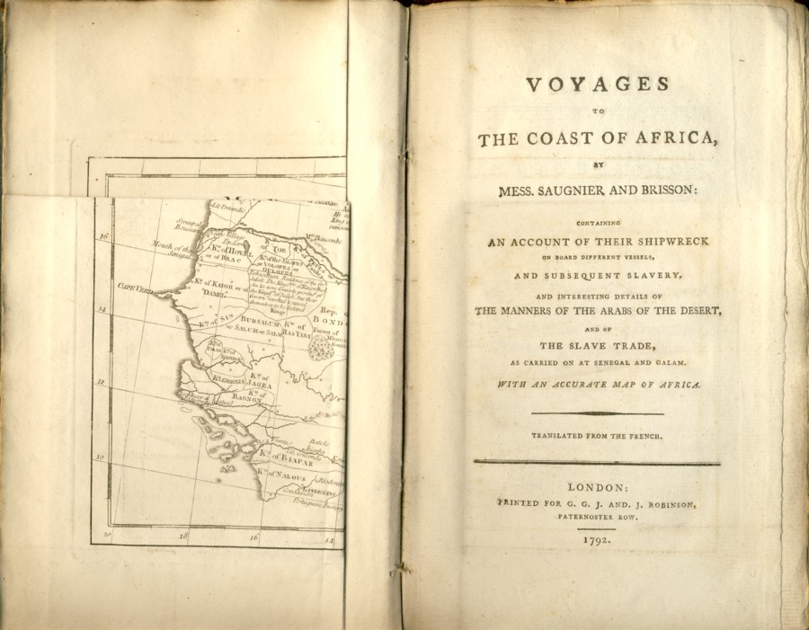 Image for Voyages to the Coast of Africa, By Mess. Saugnier and Brisson: Containing an Account of Their Shipwreck on Board Different Vessels, and Subsequent Slavery, and Interesting details of the Manners of the Arabs of the Desert, and of the Slave Trade