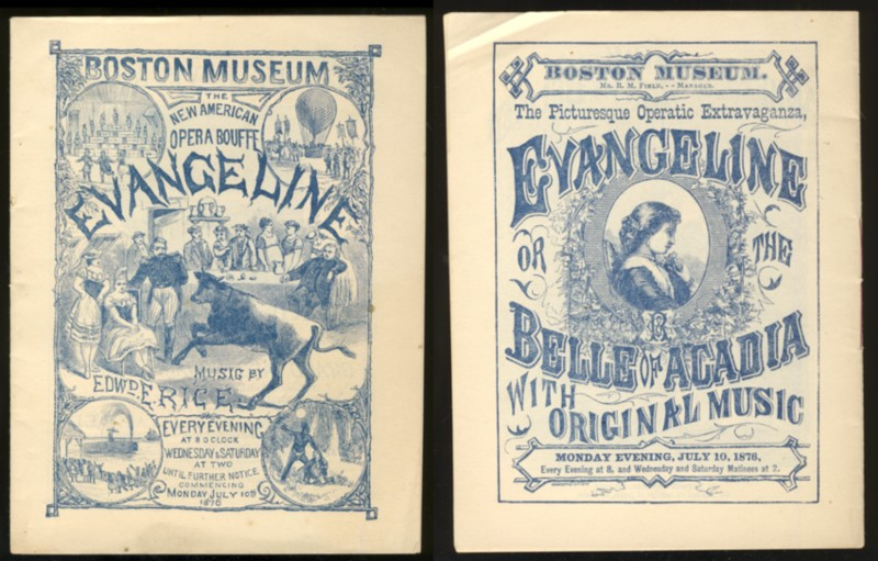 Image for The Romantic Operatic Extravaganza or,  American Opera Bouffe  Evangeline; or, the Belle of Acadia. In Three Acts with Original Music