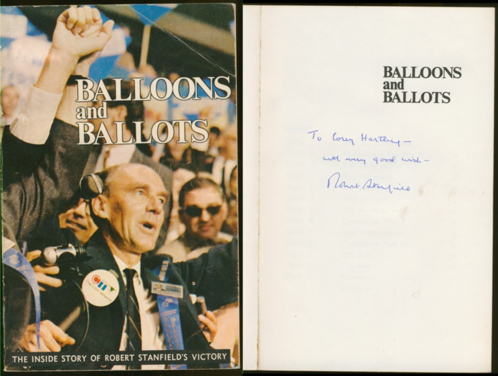 Image for Balloons and Ballots The Inside Story of Robert Stanfield's Victory