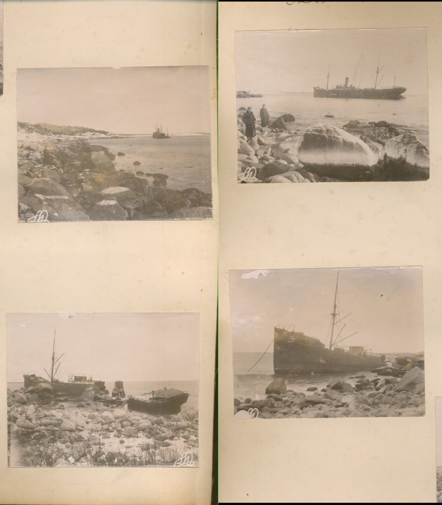Image for Four Photographs the Allan-Furness Liner S. S. Grecian Wrecked off Herring Cove (Halifax, Nova Scotia) Feb. 9th, 1902