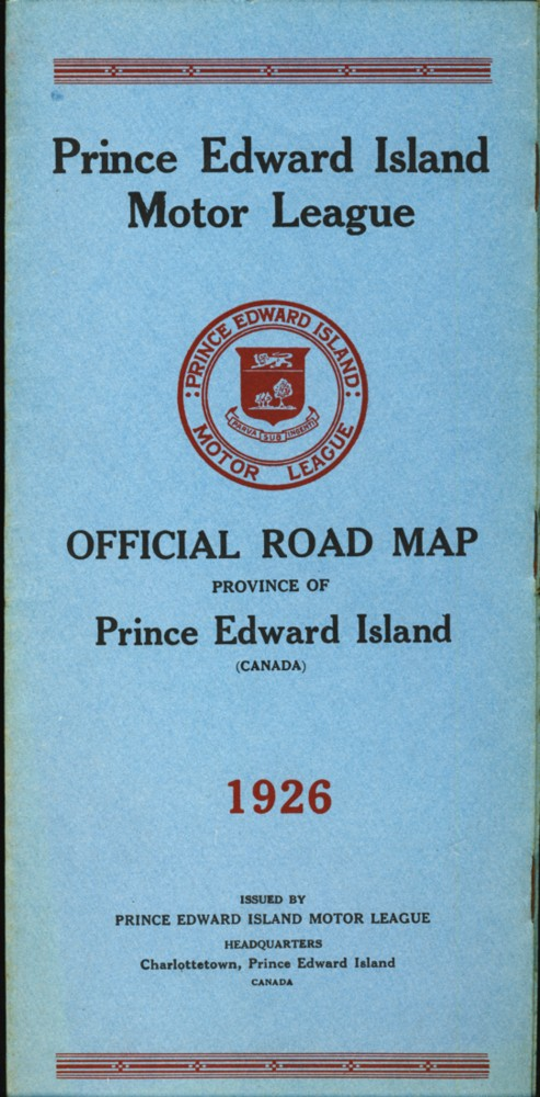 Image for Prince Edward Island Motor League Official Road Map Province of Prince Edward Island 1926 (Canada)